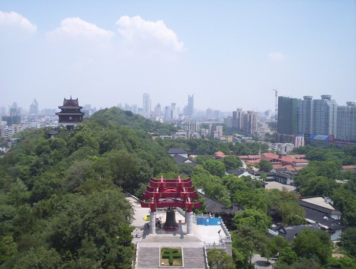 Skyline of Wuhan from Yellow Crane Tower